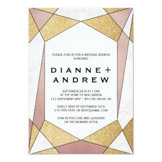 Bezaubernder geometrischer 12,7 x 17,8 cm einladungskarte