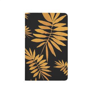 Bezaubernder Goldfarn Taschennotizbuch