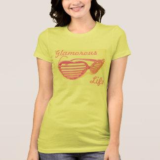 Bezaubernder Leben-Rosa-Sonnenbrille-T - Shirt
