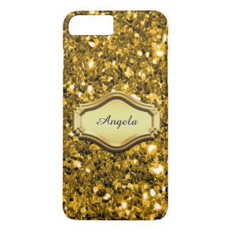Bezaubernder simulierter Goldfunkelnd Glitter-Fall iPhone 8 Plus/7 Plus Hülle