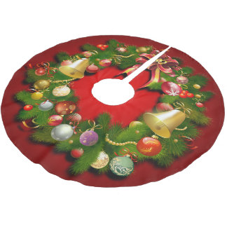 Bezaubernder WeihnachtsKranz Polyester Weihnachtsbaumdecke