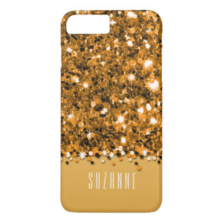 Bezauberndes Goldfunkelnd Glitterconfetti-Kasten iPhone 8 Plus/7 Plus Hülle
