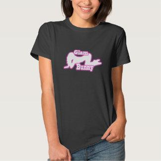 Bezauberndes Häschen-Schleichen-Logo-T-Shirt Tshirt