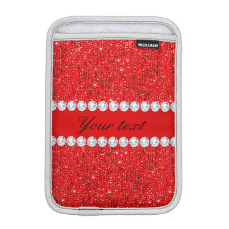 Bezauberndes Imitat-rote Sequins und Diamanten iPad Mini Sleeve