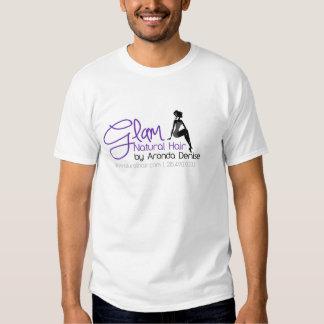 Bezauberndes natürliches Haar-Logo-T-Stück Shirt