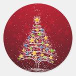 Bezauberndes Weihnachten Runder Aufkleber