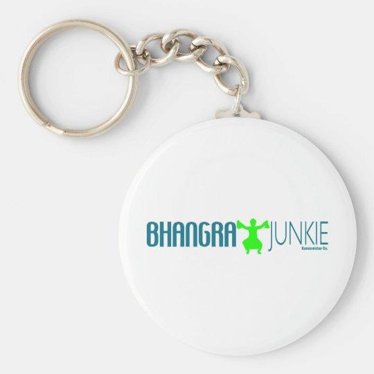 Bhangra Junkie Standard Runder Schlüsselanhänger