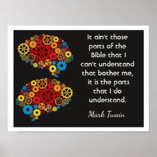 Bibel-Gedanken - Mark Twain-Zitat - Kunstdruck Poster
