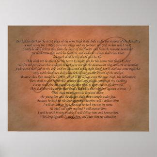 Bibel-Vers des Psalm-91 Poster