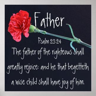 Bibel-Vers für Father Tagespsalm-23:24 Posterdrucke