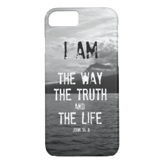 Bibel-Vers: Ich bin die Weise, Wahrheit, Leben iPhone 7 Hülle