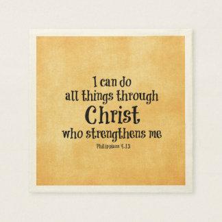 Bibel-Vers: Ich kann alle Sachen durch Christus Servietten