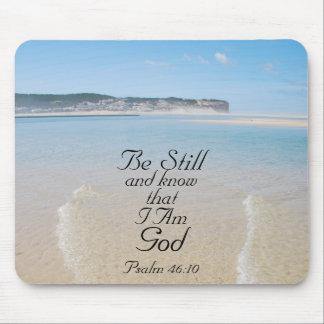 Bibel-Vers ist noch und weiß, dass ich Gott Mauspad