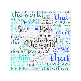 Bibel-Vers-Zitat-Wort-Kunst Leinwanddrucke