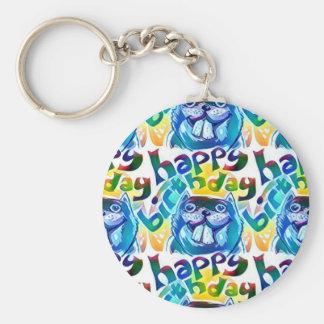 Biber sagen alles Gute zum Geburtstag Schlüsselanhänger