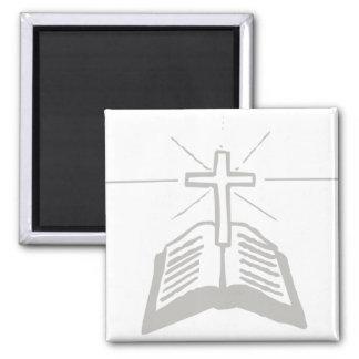 Bible+Croix Gris Magnets