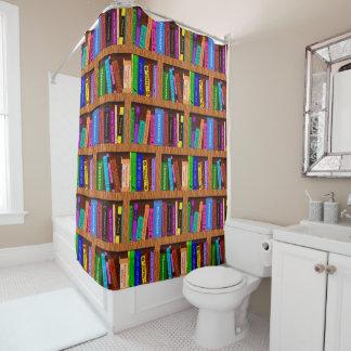 Bibliothek bucht Bücherregal-Muster für Leser Duschvorhang