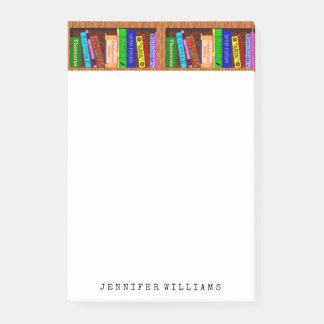 Bibliothek bucht englischer den personalisierten post-it haftnotiz