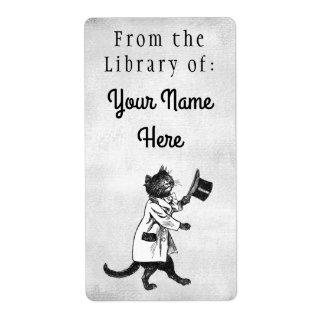 Bibliothek der großer adressaufkleber
