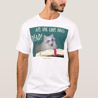 Bibliothek - Samoyed - coole Hunde las Bildung T-Shirt