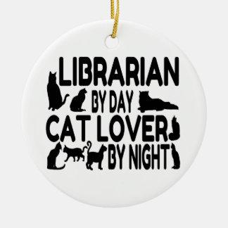 Bibliothekar-Katzen-Liebhaber Keramik Ornament