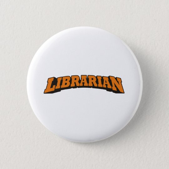 Bibliothekar (orange) runder button 5,7 cm