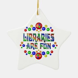 Bibliotheken sind Spaß Keramik Ornament
