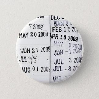 Bibliotheks-Datums-Briefmarken-Knopf Runder Button 5,1 Cm