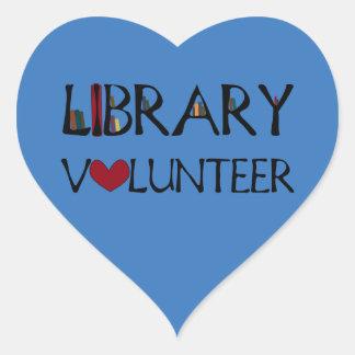 Bibliotheks-Freiwilliger - wählen Sie Farbe Herz-Aufkleber