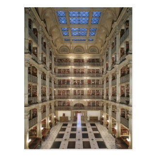 Bibliotheks-Postkarte Georges Peabody Postkarte
