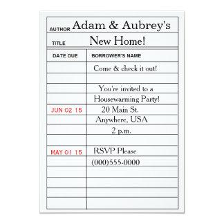 """""""Bibliotheksausweis"""" Housewarming-Einladungen 12,7 X 17,8 Cm Einladungskarte"""