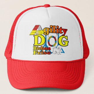 Bichon Frise Agility-Geschenke Truckerkappe