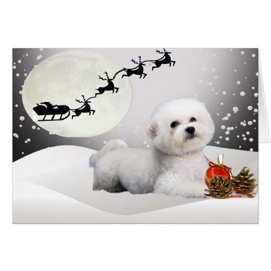 Bichon Frise eine frohe Weihnacht-Gruß-Karte Karte