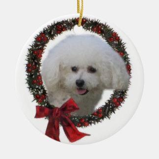 Bichon Frise Weihnachtsgeschenk-Verzierung Keramik Ornament