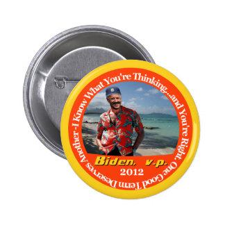 Biden, v.p. 2 runder button 5,7 cm