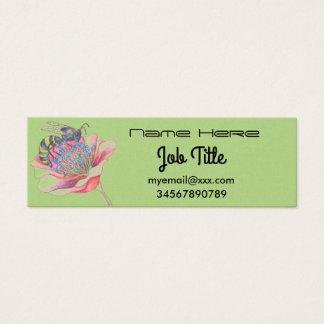 Biene auf Blumengeschäftskarte Mini Visitenkarte