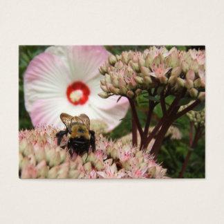Biene auf Sedum ~ ATC Visitenkarte
