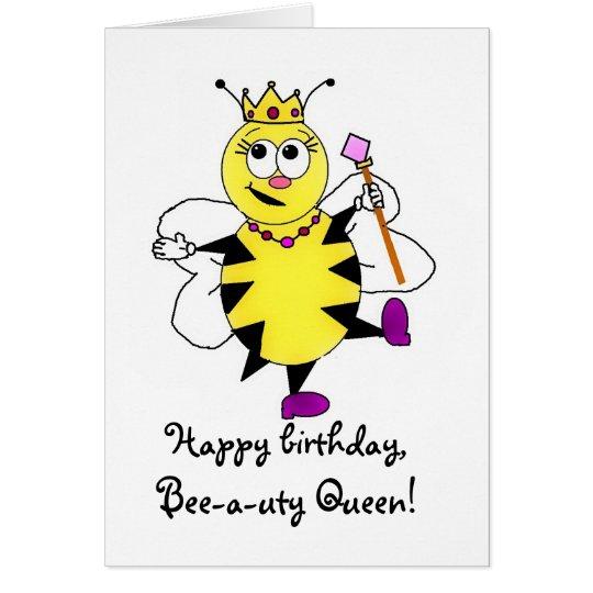 Biene-ein-uty Königin-Karte Grußkarte