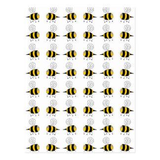 Biene - Gelb Postkarte
