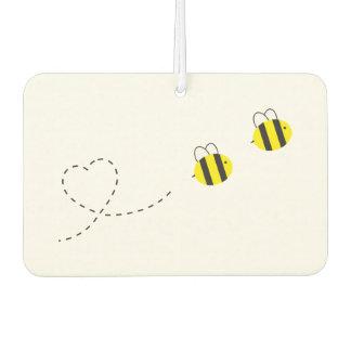 Biene im Liebe-Auto-Luft-Erfrischungsmittel Autolufterfrischer