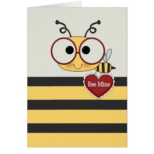 Biene mein Valentinsgruß Karte