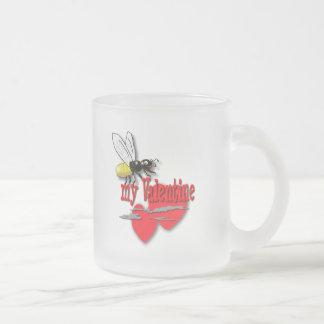 Biene mein Valentinsgruß Mattglastasse