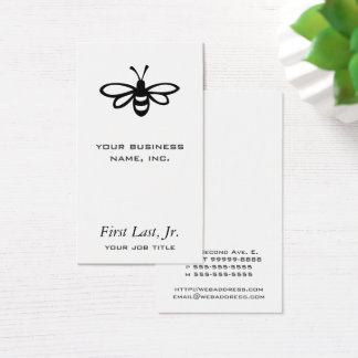 Biene [Schwarzes] Visitenkarte