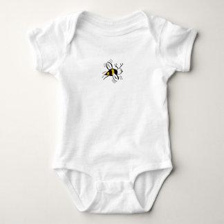Bienen-freier Honig und schwarze Mini - Baby Strampler