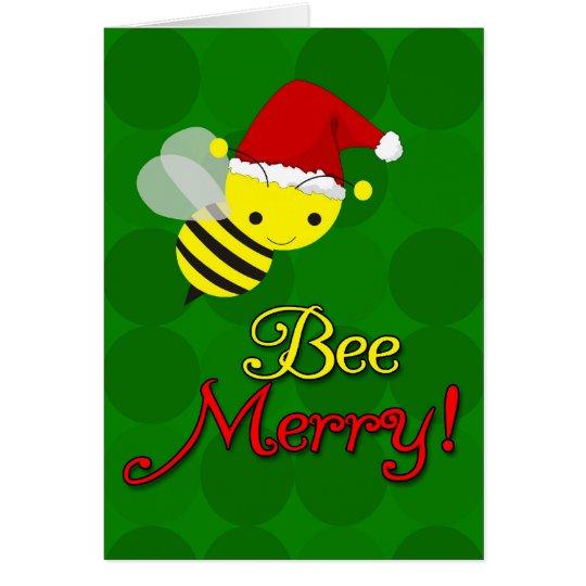 Bienen fr hliche niedliche hummel weihnachtskarten gru karte zazzle - Niedliche weihnachtskarten ...