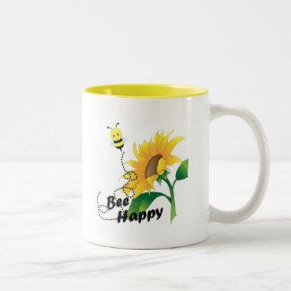 Bienen-glückliche Kaffee-Tasse Zweifarbige Tasse
