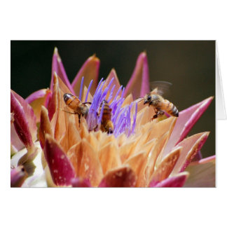 Bienen in der Artischocke Karte