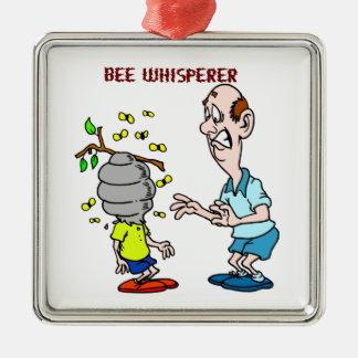 Bienen-Liebhaber-Bienewhisperer-Hummel Silbernes Ornament