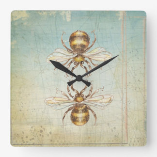 Bienen Quadratische Wanduhr
