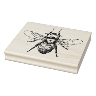 Bienen-Vintage Illustration Gummistempel